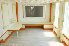 The interior of a large room. 3d illustration Stock Photos