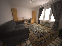 Interior. Large spacious bright room Royalty Free Stock Photo
