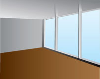Interior with a large window Stock Images
