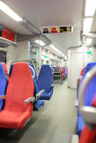 Interior of the Lastochka high-speed train during Winter Olympics 2014 Royalty Free Stock Image