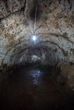Interior of a lava tube in Galapagos Royalty Free Stock Photo