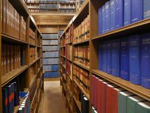 Library bookshelves Stock Photo