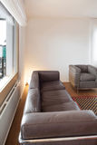Interior, leather divan Royalty Free Stock Image