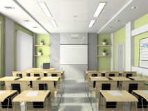 Interior of the lecture-room Stock Images