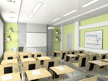 Interior of the lecture-room. For seminars, studies, trainings or meetings Royalty Free Stock Image