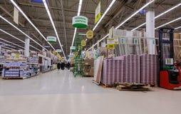 Interior of the Leroy Merlin Samara Store Stock Photo