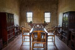 Interior of Lhong 1919 with Chinese room style. stock photos