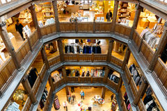 Interior of Liberty in London, UK. London, UK - August 2, 2016 - Liberty, a luxury department store in the West End of London Stock Image