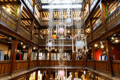 Interior of Liberty in London, UK Stock Images