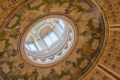 Interior of Library of Congress Dome Royalty Free Stock Image