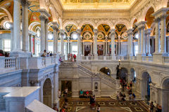 Interior of the Library of Congress in Washington D.C. Royalty Free Stock Photo