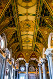 The interior of the Library of Congress, Washington, DC. Royalty Free Stock Images
