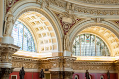 Interior of the Library of Congress in Washington DC, reading room Royalty Free Stock Photo