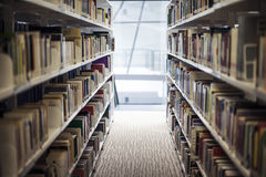 Interior library of Lasalle College of the Arts. Singapore Royalty Free Stock Photos