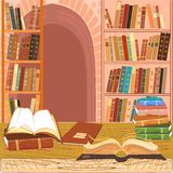 Interior of the library Royalty Free Stock Images