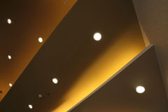 Interior of light on ceiling modern Royalty Free Stock Image