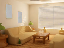 Interior in light tones Royalty Free Stock Photo