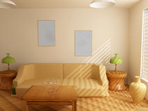 Interior in light tones Royalty Free Stock Image