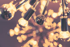 Interior lighting decor with bokeh - Royalty Free Stock Images