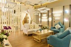 Interior lighting shop furniture furnishings fitment encoignure. Interior of luxury modern lighting shop,furniture furnishings fitment encoignure stock images