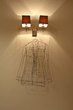 Interior with lights and hanger. Fragment modern interior lights hanger Royalty Free Stock Photography
