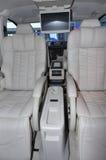 Interior of limo. Seats interior of luxury benz limousine Stock Photos