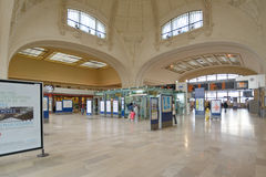 Interior of Limoges-Benedictins Train Station Royalty Free Stock Photo