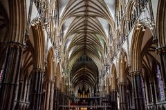Lincoln Cathedral Interior Royalty Free Stock Photos