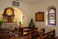 Interior of a little church. Sanctuary. I?ve got more religous images Royalty Free Stock Photography