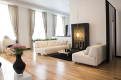 Interior of living room stock image