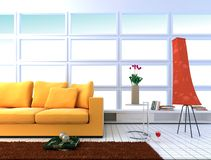 Interior living-room Stock Photography