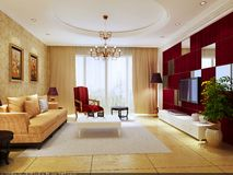 Interior living-room Stock Photo