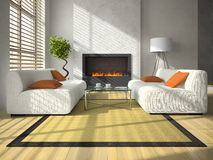 Interior of the living-room Royalty Free Stock Image