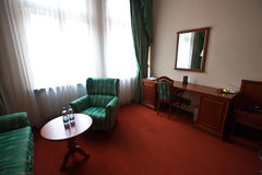 Interior of living room. With green furniture royalty free stock images