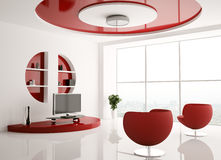 Interior of living room 3d Royalty Free Stock Image