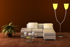 Interior of a living room. Royalty Free Stock Image