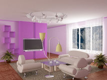 Interior of a living room. Stock Image