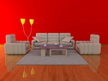 Interior of a living room. Stock Images