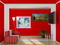 Interior of a living room. Royalty Free Stock Photos