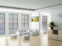 Interior of a living room. vector illustration