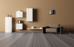Interior of living room 3d render Royalty Free Stock Image