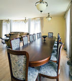 Interior of living room with big table Royalty Free Stock Photo