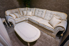 Interior living room with bright sofa. Interior living room with a bright sofa stock image