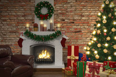 Interior of living room in christmas - Shot 03 Stock Image