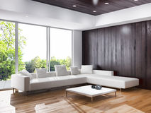 Interior living room, contemporary style Royalty Free Stock Images