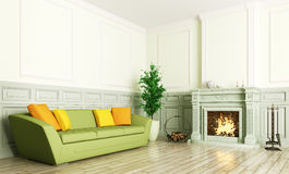 Interior of living room 3d render Stock Photography
