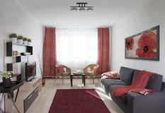 Interior of a living room Royalty Free Stock Images