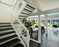 Interior, living room view from stair Stock Photo