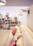 Interior of living room. White interior of living room stock image
