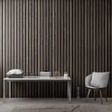 Interior of living room with wood planks wall, 3D Rendering.  Stock Photography